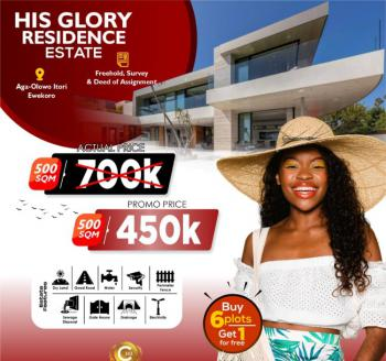 Land, His Glory Residence Estate, Ewekoro, Ogun, Residential Land for Sale