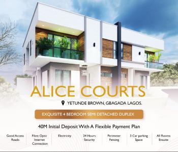 Off Plan Work in Progress, 4 Bedroom Semi Detached Duplex, Yetunde Brown, Ifako, Gbagada, Lagos, Semi-detached Duplex for Sale