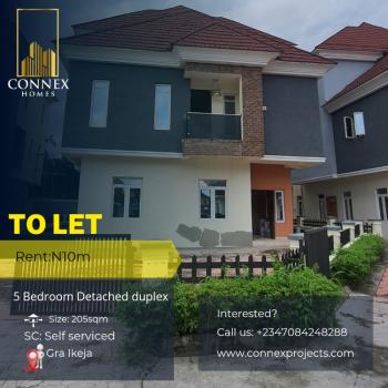 Luxury 5 Bedrooms Detached Duplex in a Mini Estate with a Bq and Pool, Ikeja Gra, Ikeja, Lagos, Detached Duplex for Rent