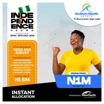 100% Dry Land at a Promo Price, Okun Imosan, Ibeju Lekki, Lagos, Mixed-use Land for Sale