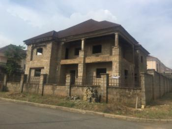 Fully Detached 5 Bedroom Duplex Carcass with a Bq and Gate House, Opposite Games Village, Kaura, Abuja, Detached Duplex for Sale