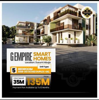 5 Bedroom Luxurious Semi Detached Duplex, Durumi, Central Area Phase 2, Abuja, Semi-detached Duplex for Sale