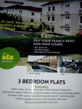 Brand New Tastefully Finished and Serviced 3 Bedrooms Flat with a Room Bq, Rent- to - Own, Mabuchi, Abuja, Flat for Rent