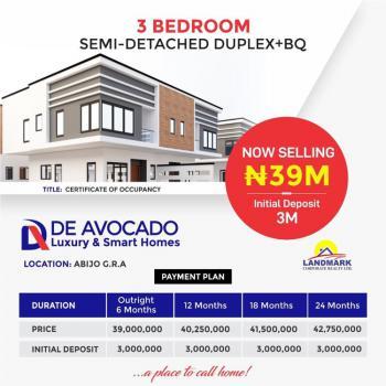 Luxury 3 Bedroom Semi-detached, De Avocado Luxury/smart Homes, Abijo, Lekki, Lagos, Semi-detached Duplex for Sale