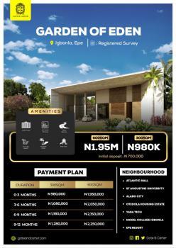 Land, Garden of Eden, Igbonla, Epe, Lagos, Residential Land for Sale