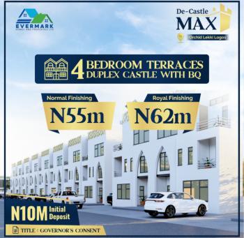 Luxury 4 Bedroom Terrace Duplex with Bq, De Castle Max Orchid Road, Lekki, Lagos, Terraced Duplex for Sale