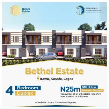 4 Bedroom Terrace Duplex, Bethel Estate, Irawo, Kosofe, Lagos, Terraced Duplex for Sale