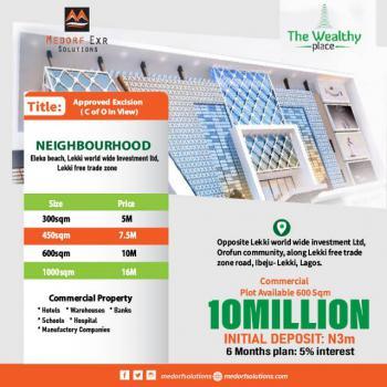 Land, The Wealthy Place, Lekki Free Trade Zone, Ibeju Lekki, Lagos, Industrial Land for Sale