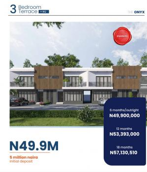 Luxury 3 Bedroom Terrace, Ogombo Road By Abraham Adesanya Round, Lekki Phase 2, Lekki, Lagos, Terraced Duplex for Sale