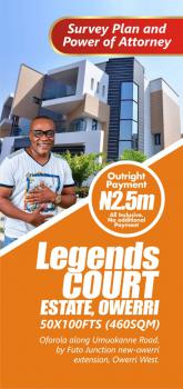 Legend Court Estate, Futo Junction, Owerri West, Imo, Residential Land for Sale
