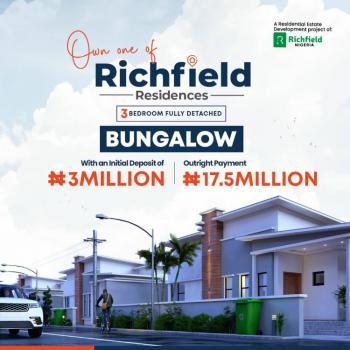 3 Bedroom, Richfield Residence Midgal Off Abeokuta-lagos Expressway, Abeokuta North, Ogun, Detached Bungalow for Sale