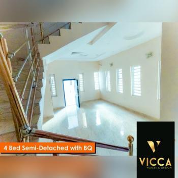 Modern 4 Bedroom Semi-detached Duplex with Bq, Chevron, Lekki, Lagos, Semi-detached Duplex for Rent