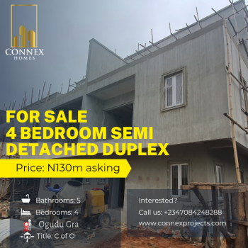 Four Bedroom Semi Detached Duplex with a Room Bq, Gra, Ogudu, Lagos, Semi-detached Duplex for Sale