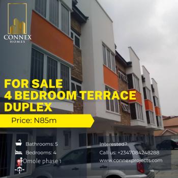 Four Bedroom Terrace Duplex with a Room Bq, Omole Phase 1, Ikeja, Lagos, Terraced Duplex for Sale