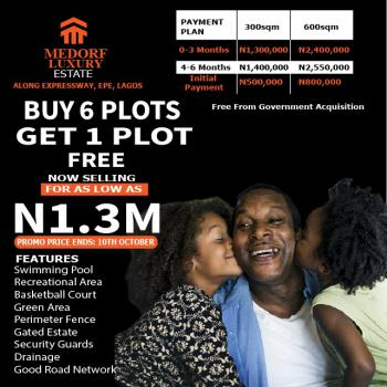 Land, Medorf Luxury Estate, Directly Along Expressway, Epe, Lagos, Residential Land for Sale