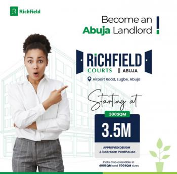 Affordable Plots of Land Available in a Well Serene Location, Richfied Courts, Airport Road, Lugbe District, Abuja, Mixed-use Land for Sale