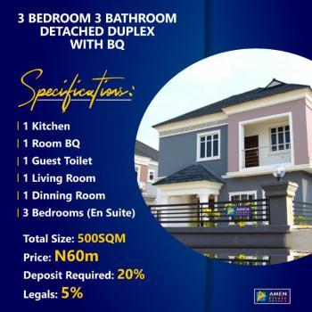 Aesthetic 3 Bedroom Detached Duplex with Bq, Amen Estate Phase 2, Eleko, Ibeju Lekki, Lagos, Detached Duplex for Sale