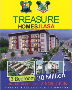 Newly Built Luxury 3 Bedroom Apartment in a Well Secured Estate, Surulere, Sesere, Mushin, Lagos, Flat / Apartment for Sale