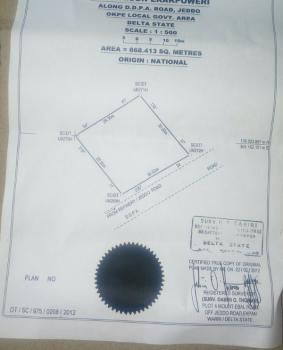 Choice Plot of Land in Highly Secured Location, Opposite Mopol Base Jeddo, Okpe, Delta, Residential Land for Sale