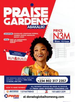 Praise Gardens Estate- Promo! Promo!! Promo!!!*, Goodluck Jonathan Expressway, Idembia Ishieke, Abakaliki, Ebonyi, Mixed-use Land for Sale