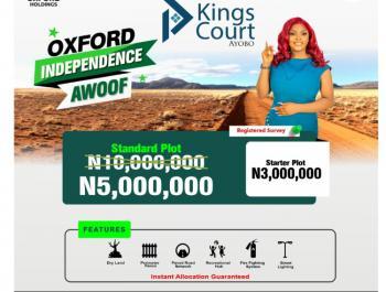 C of O Land, Kings Court, Ayobo, Lagos, Residential Land for Sale
