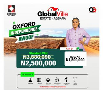 C of O Land, Global Ville, Agbara-igbesa, Lagos, Residential Land for Sale