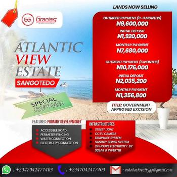 Gracias Atlantic View Estate, Sangotedo, Ajah, Lagos, Land for Sale