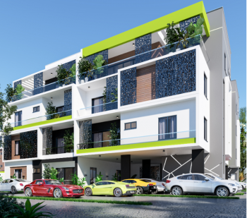 Off Plan 2 Bedroom Apartment with Bq, Pearl Residences, Abijo, Lekki, Lagos, Block of Flats for Sale