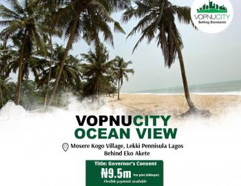 Oceanfront Estate Land, Sangotedo Waterfront Few Minutes From Expressway, Sangotedo, Ajah, Lagos, Mixed-use Land for Sale