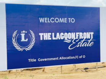 Own a Affordable Lagoon Front Commercial Land with a Title of C of O, Opposite Alaro City (15-20min Drive From Eleko Junction), Epe, Lagos, Commercial Land for Sale