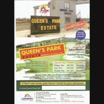 Land, Queens Park Estate, Opic, Isheri North, Lagos, Mixed-use Land for Sale