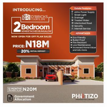 Luxury 2 Bedroom Semi Detached Bungalow, Oasis Garden Estate, Poka, Epe, Lagos, Semi-detached Bungalow for Sale