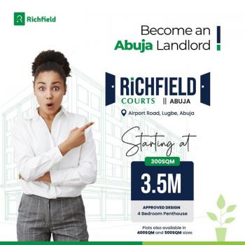 Most Adorable Land, Richfield Treasure Gardens, Airport Road, Lugbe District, Abuja, Land for Sale