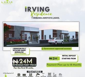 3 Bedroom Smart Bungalow, Oribawa Bus Stop, Awoyaya, Ibeju Lekki, Lagos, Detached Bungalow for Sale