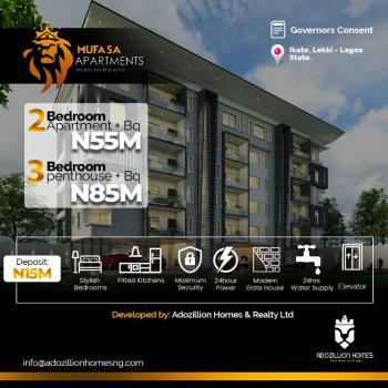 Executive 2 Bedroom Residential Apartments, Mufasa Lifestyle Apartments, Ikate Elegushi, Lekki, Lagos, Block of Flats for Sale