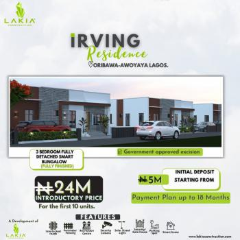 3 Bedroom Fully Detached Duplex with Bq, Irving Residences, Close to Mayfair Gardens, Awoyaya, Ibeju Lekki, Lagos, Detached Bungalow for Sale