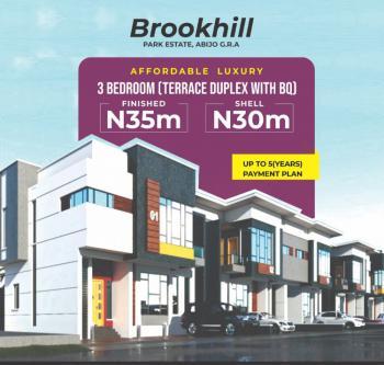 Contemporary 3 Bedroom Terrace Duplex + Bq (with Payment Plan), Brookhill Park, Abijo, Lekki, Lagos, Terraced Duplex for Sale