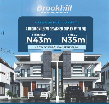 Contemporary 4 Bedroom Semi Detached Duplex + Bq (with Payment Plan), Brookhill Park, Abijo Gra, Abijo, Lekki, Lagos, Semi-detached Duplex for Sale