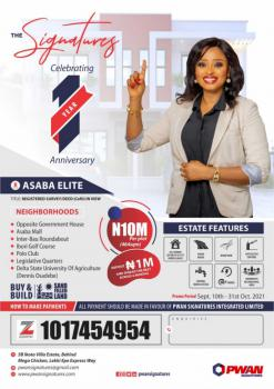 Invest in a Plot of Land in Asaba Just Opp The Government House, Opposite Government House Asaba, Asaba, Delta, Mixed-use Land for Sale