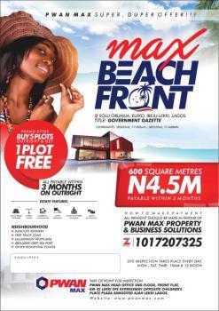 Land, Max Beach Front Estate, Eleko, Ibeju Lekki, Lagos, Mixed-use Land for Sale