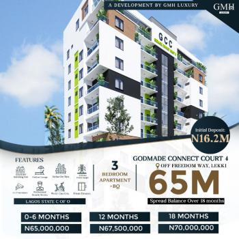 Off Plan 3 Bedroom Apartment with B.q & Flexible Payment Plan Options, Off Freedom Way, Lekki Phase 1, Lekki, Lagos, Block of Flats for Sale