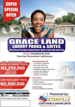 Affordable Land in Ibeju-lekki, Grace Land Luxury Parks & Suiteslacapaigne Tropicana Resort, Okun Ise,, Ibeju Lekki, Lagos, Residential Land for Sale