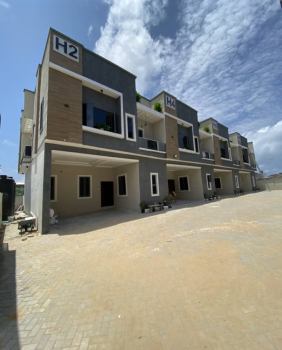 Newly Built Serviced 4 Bedroom Terrace with Bq, Orchid Road, Ikota, Lekki, Lagos, Terraced Duplex for Rent