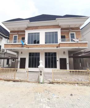 Flawless 4 Bedroom Semi Detached Duplex with Bq in a Gated Estate, Chevron, Lekki, Lagos, Semi-detached Duplex for Rent