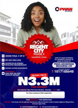 Land with C of O, Oshoroko, Regent City Estate, Lekki Free Trade Zone, Lekki, Lagos, Mixed-use Land for Sale