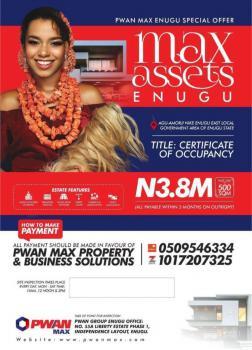 Land, Nike, Max Assets Estate, Enugu, Enugu, Mixed-use Land for Sale