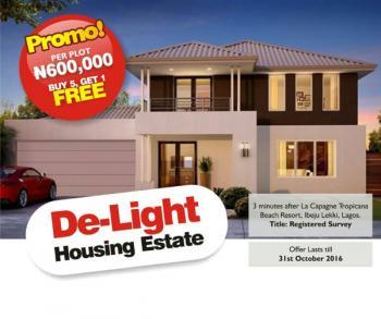 Land, De Light Garden Estate, Ibeju Lekki, Lagos, Residential Land for Sale