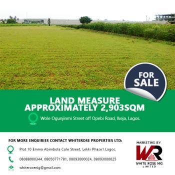 Land Measuring Approximately 2,903sqm, Wole Ogunjinmi Street, Opebi, Ikeja, Lagos, Mixed-use Land for Sale