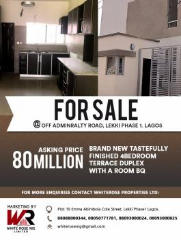 Brand New Self Service, 4 Bedroom Terrace with a Room Bq, Off Admiralty Way, Lekki Phase 1, Lekki, Lagos, Flat / Apartment for Sale