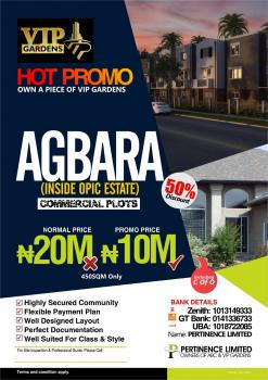 Plot of Land, Opic Estate, Agbara-igbesa, Lagos, Commercial Land for Sale